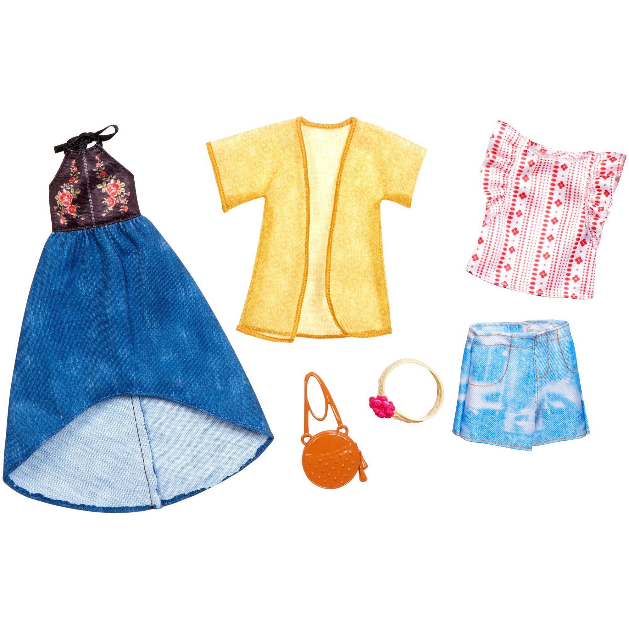 Barbie Fashion Sets Doll Clothes with 2 Urban Boho-Inspired Looks