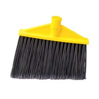 Rubbermaid Commercial Products Threaded, Angled Replacement Broom Head in Gray and Yellow (Set of 12)