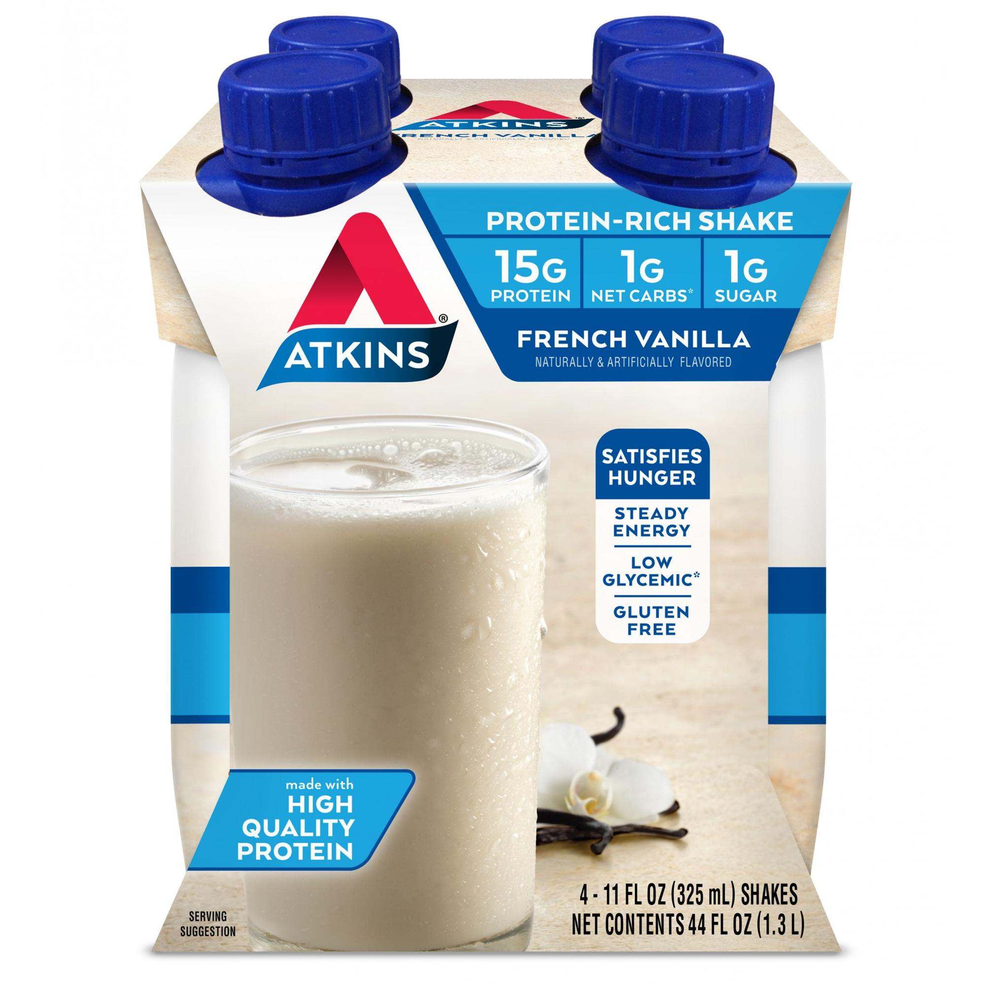 Atkins French Vanilla Shake, 4-pack (Ready to Drink)