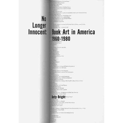 No Longer Innocent: Book Art in America: 1960-1980