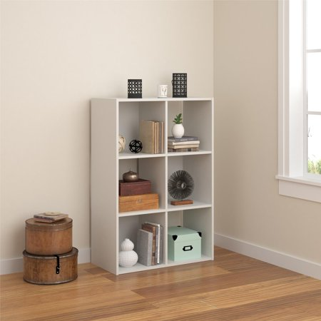 Tally 6 Cube Bookcase, Multiple Colors French Oak Cubes