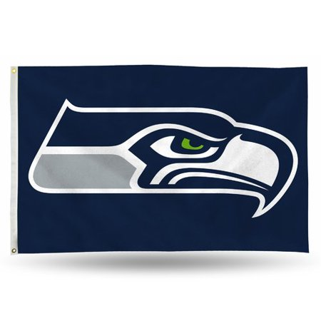 Rico Industries NFL 3' x 5' Banner Flag, Seattle Seahawks - Seahawks Banner