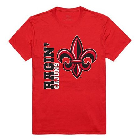 W Republic Apparel 515-189-R58-03 University of Louisiana at Lafayette Mens Ghost Tee, Red - Large - Party City Lafayette Louisiana