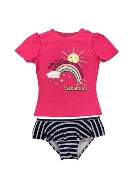 Freestyle Revolution Rainbow Rashguard Tankini Swimsuit (Baby Girls & Toddler Girls)