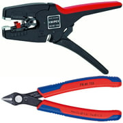 [Buy Together and Save] KNIPEX Tools 12 42 195 MultiStrip and KNIPEX Tools 78 61 125 Electronics Wire Cutter