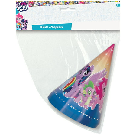 My Little Pony Party Hats, 8ct - My Little Pony Hat