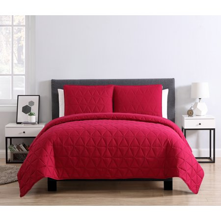 Mainstays Triangle Embossed 3 Piece Bedding Quilt Set