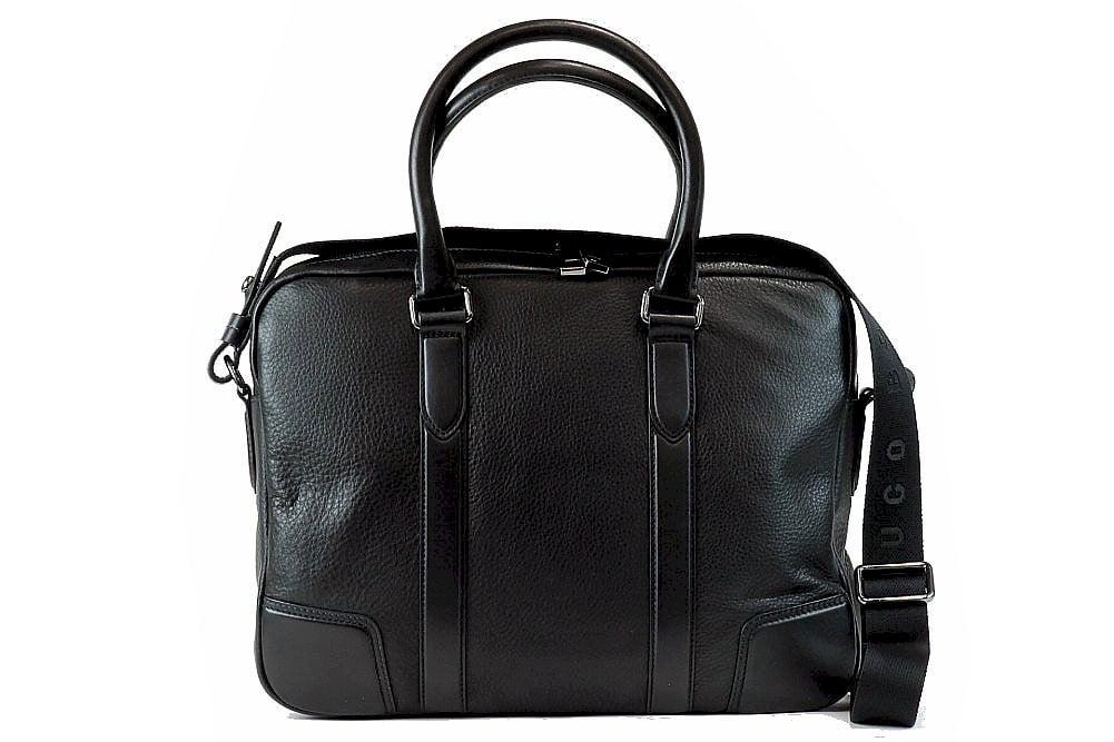 Hugo Boss Men S Morval 50261682 Leather Business Messenger Bag