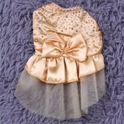 NEW Arrival Dog Puppy Wedding Party Lace Skirt Clothes Bow Tutu Princess Dress Pet Apparel