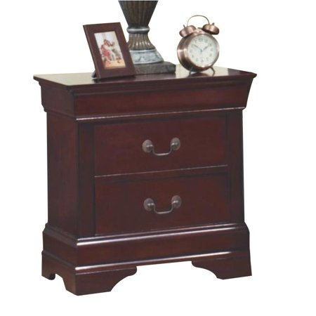 Kingfisher Lane Two Drawer Nightstand in Rich Cherry