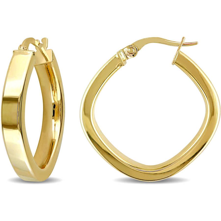 10kt yellow gold hoop earrings walmart