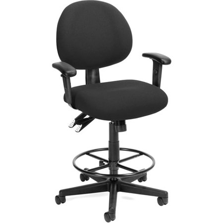 OFM 24 Hour Ergonomic Computer Task Chair With Arms And Drafting Kit Walmar