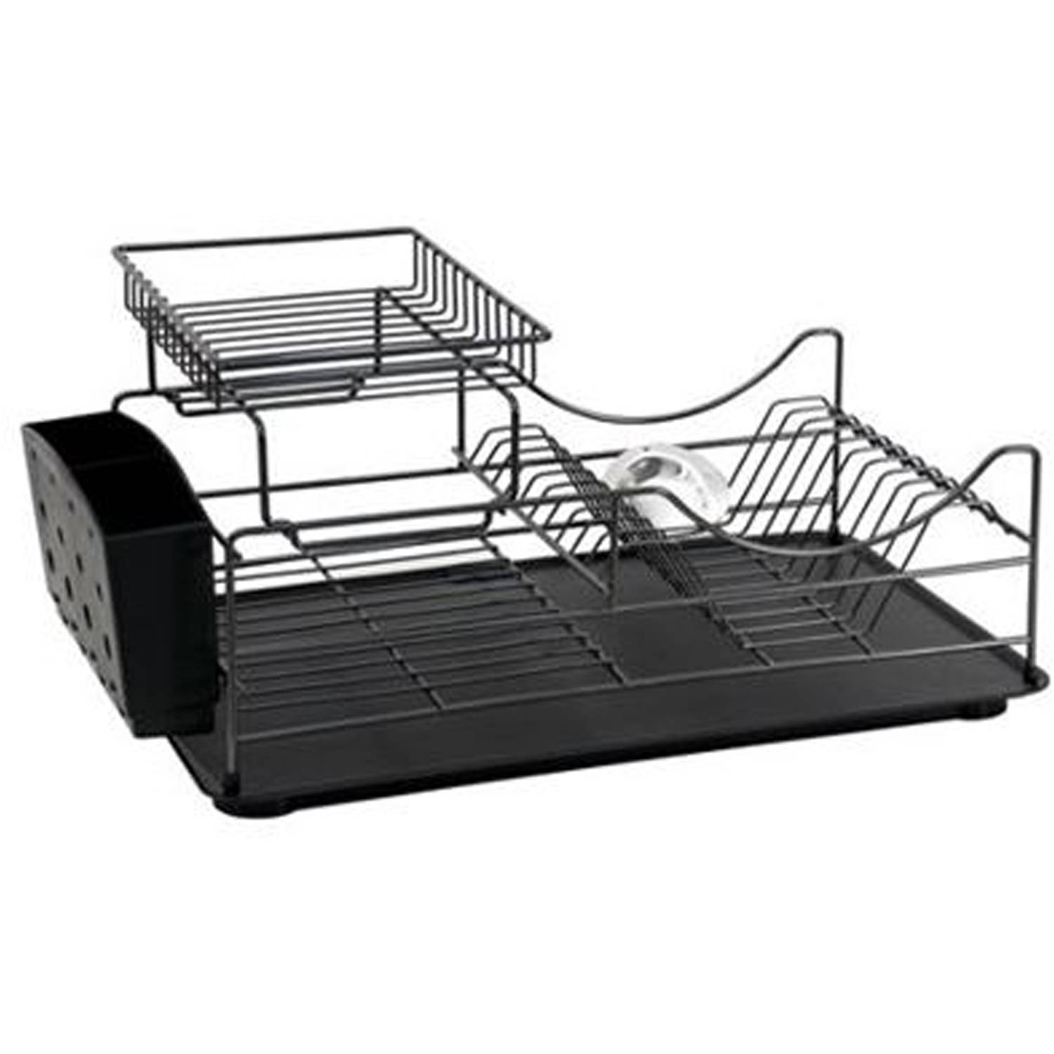 Better Homes and Gardens Black Powder Coated Wire Dish Rack by Lifetime Brands