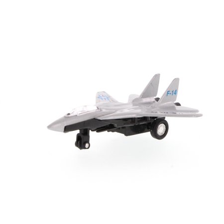Super Flighters - F-14 Tomcat Fighter Plane, Silver - Showcasts 9860D - 4.75 Inch Scale Diecast Model Replica (Brand New, but NOT IN BOX)