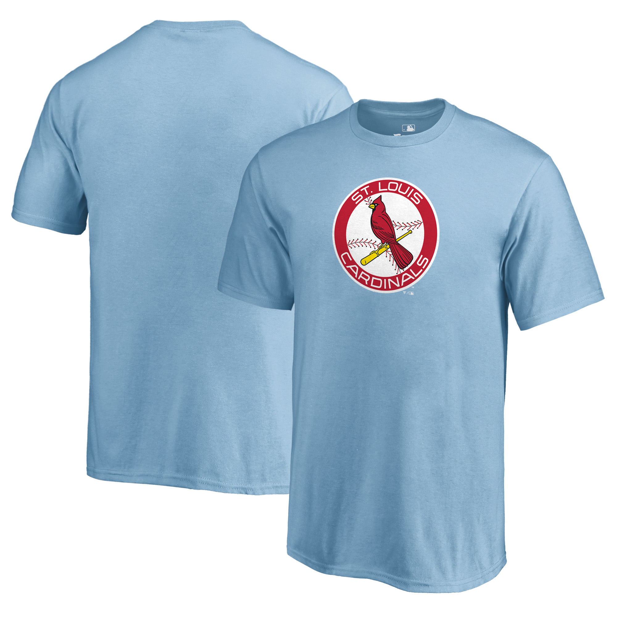 St. Louis Cardinals Fanatics Branded Youth Cooperstown Collection Huntington T-Shirt - Light Blue