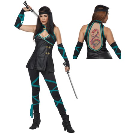 Sexy Womens Night Ninja Adult Halloween Costume](Light The Night Halloween)