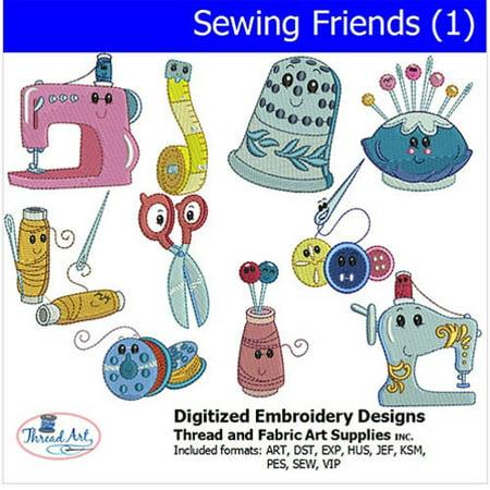 Threadart Machine Embroidery Designs Sewing Friends(1) CD