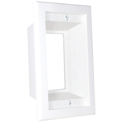 Midlite 1-Gang Recessed Box/Wall Plate Combo, 1GPP-1W