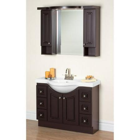Magickwoods Dark Chocolate Eurostone 39 In Single Bathroom Vanity Set