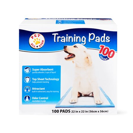 - Pet All Star Training Pads, 22 in x 22 in