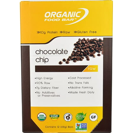 Organic food bar chocolate chip 2 4 oz for Organic food bar