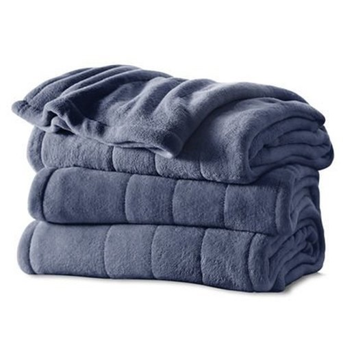 Sunbeam Channeled Microplush Heated Blanket King Size 10 Hour