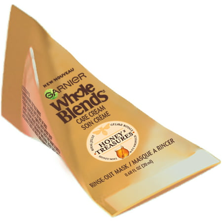 Garnier Whole Blends Care Cream Hair Mask, Honey Treasures, 0.68 FL