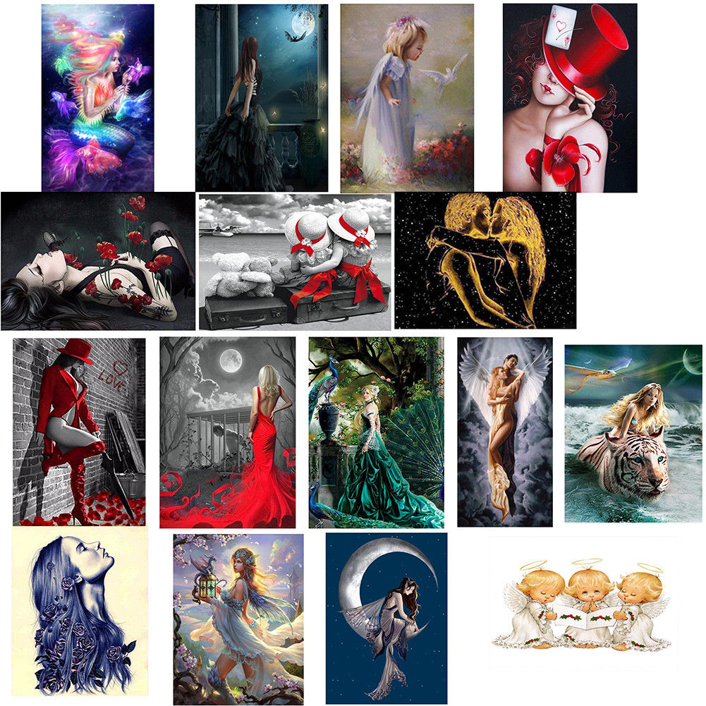Girl12Queen DIY Craft Beauty Angel 5D Diamond Painting Embroidery Cross Stitch Wall Decor