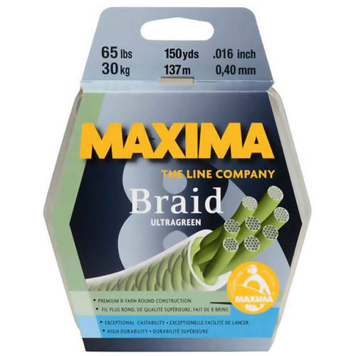 Click here to buy Maxima Braid 8 Fishing Line, 300-Yard Spool by Maxima.
