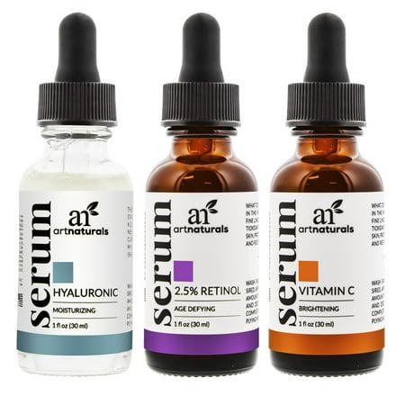 Anti Aging Set of Vitamin C Retinol Serum Hyaluronic Acid Facial Treatment-1