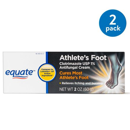 (2 Pack) Equate Athletes Foot Antifungal Cream, 2 Oz