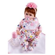 18 Inch Reborn Baby Dolls Girls Look Real Reborn Doll Soft Vinyl Silicone Baby Doll Newborn Baby Dolls Kids Children Gift