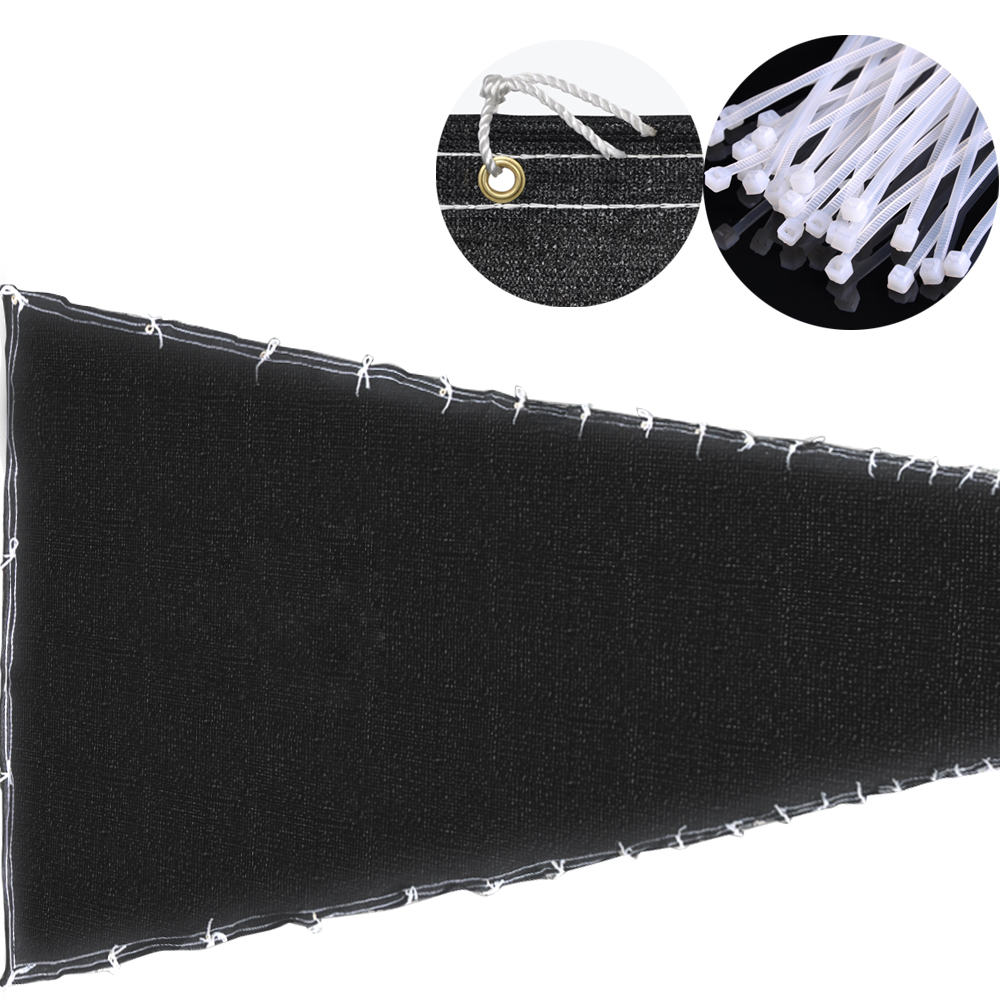 4x50' 4ft Tall Black Privacy Fence Screen Mesh Windscreen Fabric Slat Fencing Shade Cover... by Yescom