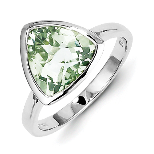 Roy Rose Jewelry Sterling Silver Green Quartz Ring ~ Size 8