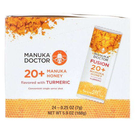 Manuka Doctor  Fusion 20  Manuka Honey  Flavored with Turmeric  24 Sachets  0 25 oz  7 g  Each