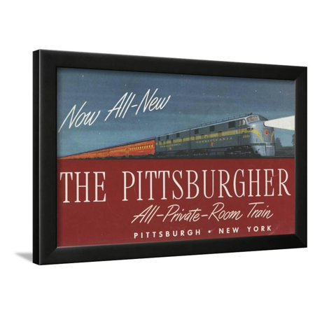 The Pittsburgher', Advertisement for the Pennsylvania Railroad Company, C.1948 Framed Print Wall (Pennsylvania Railroad Company)