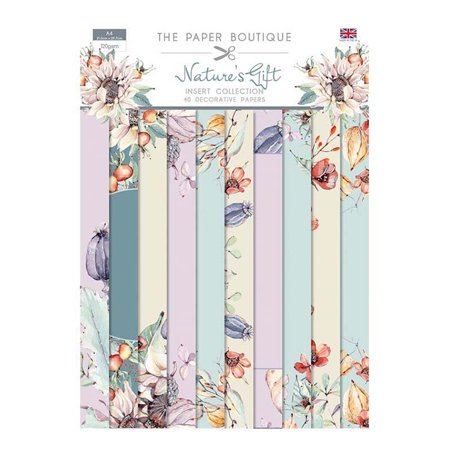 The Paper Boutique Nature's Gift Insert Collection A4 40 Sheets 10 Designs