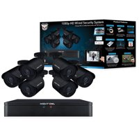 Night Owl's 8 CH 1080p HD Wired Video Security System with 6 Indoor/Outdoor Cameras, Human Detection Technology and a 1TB Pre-Installed Hard Drive