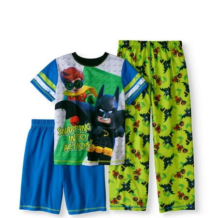 Lego Batman Boys' 'Snapping Into Action' 3 Piece Pajama Set - Batman Pajamas For Babies
