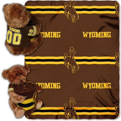 NCAA Wyoming Cowboys Mascot Bear Throw/Pillow Combo