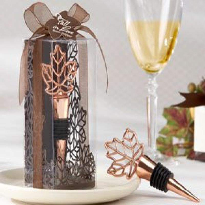 "Kate Aspen ""Lustrous Leaf"" Copper-Finish Bottle Stopper i..."