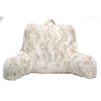 Better Homes & Gardens Swirls Faux Fur Backrest Pillow, Ivory