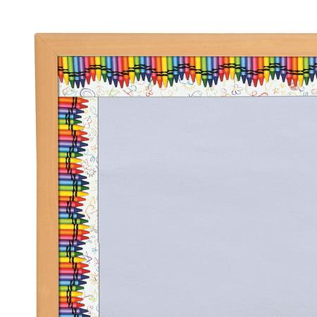 Disney Classroom Decorations (Fun Express - Crayon Bulletin Border - Educational - Classroom Decorations - Classroom Decor - 12)