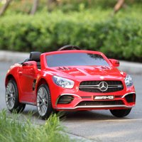 Tobbi 12V Mercedes-Benz SL65 Electric Kids Ride On Car RC Remote Control Christmas Gift,Red
