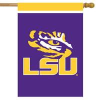 "LSU Fighting Tigers House Flag NCAA Licensed 28"" x 40"" Briarwood Lane"