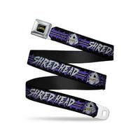 Shredder 2-Action Poses Gray/Purple Webbing - Seatbelt Belt Regular