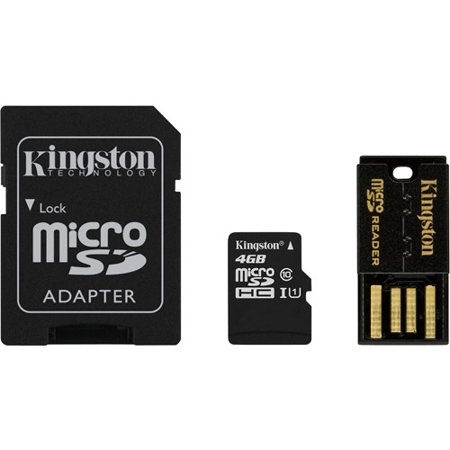 Kingston Digital Mobility Kit 4GB Flash Memory Card Class 10 with Micro SD Adapter and Reader