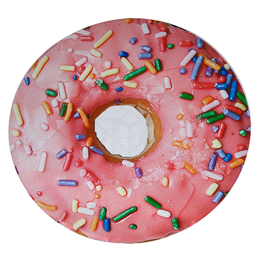 """KuzmarK 12"""" Round Glass Cutting Board - Donut Sprinkles"""