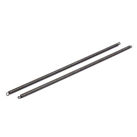 1mmx7mmx300mm Manganese Steel Extension Tension Springs Black 2pcs - image 1 de 1