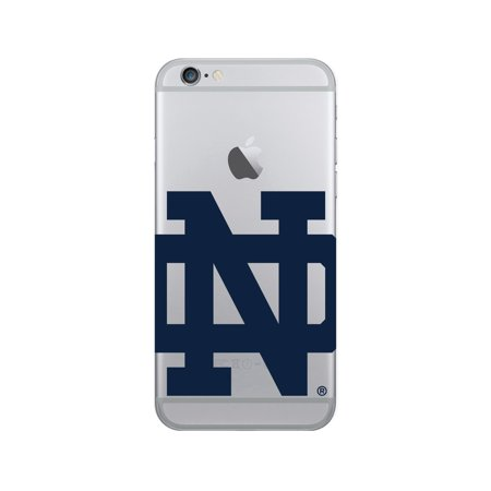 University of Notre Dame V2 Clear Phone Case, Cropped V1 - iPhone 6/6s/7/8 Plus (Notre Dame Iphone 4 Case)